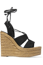 Saint Laurent Suede espadrille wedge sandals