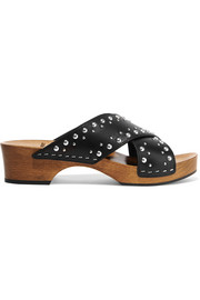 Saint Laurent Studded leather clogs