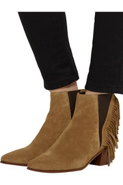 Saint Laurent Fringed suede ankle boots
