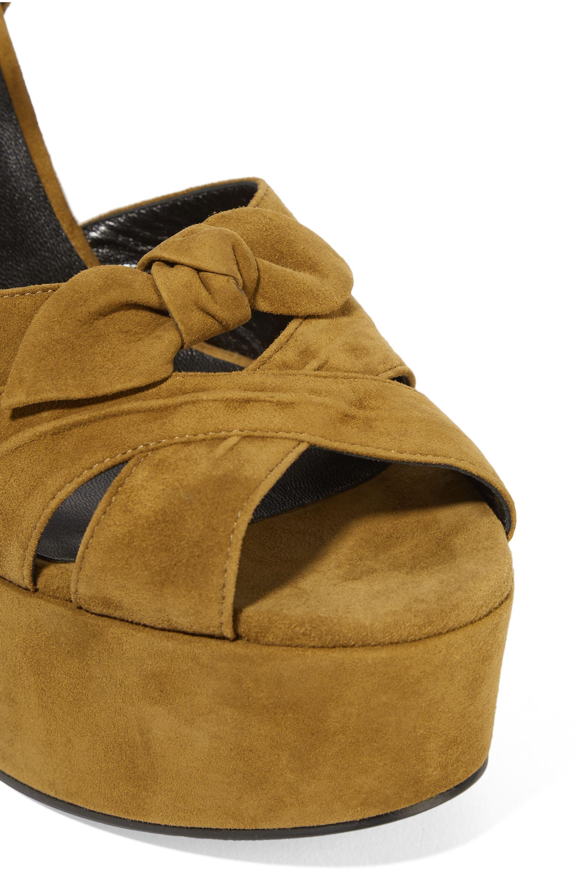 SAINT LAURENT Candy suede platform sandals
