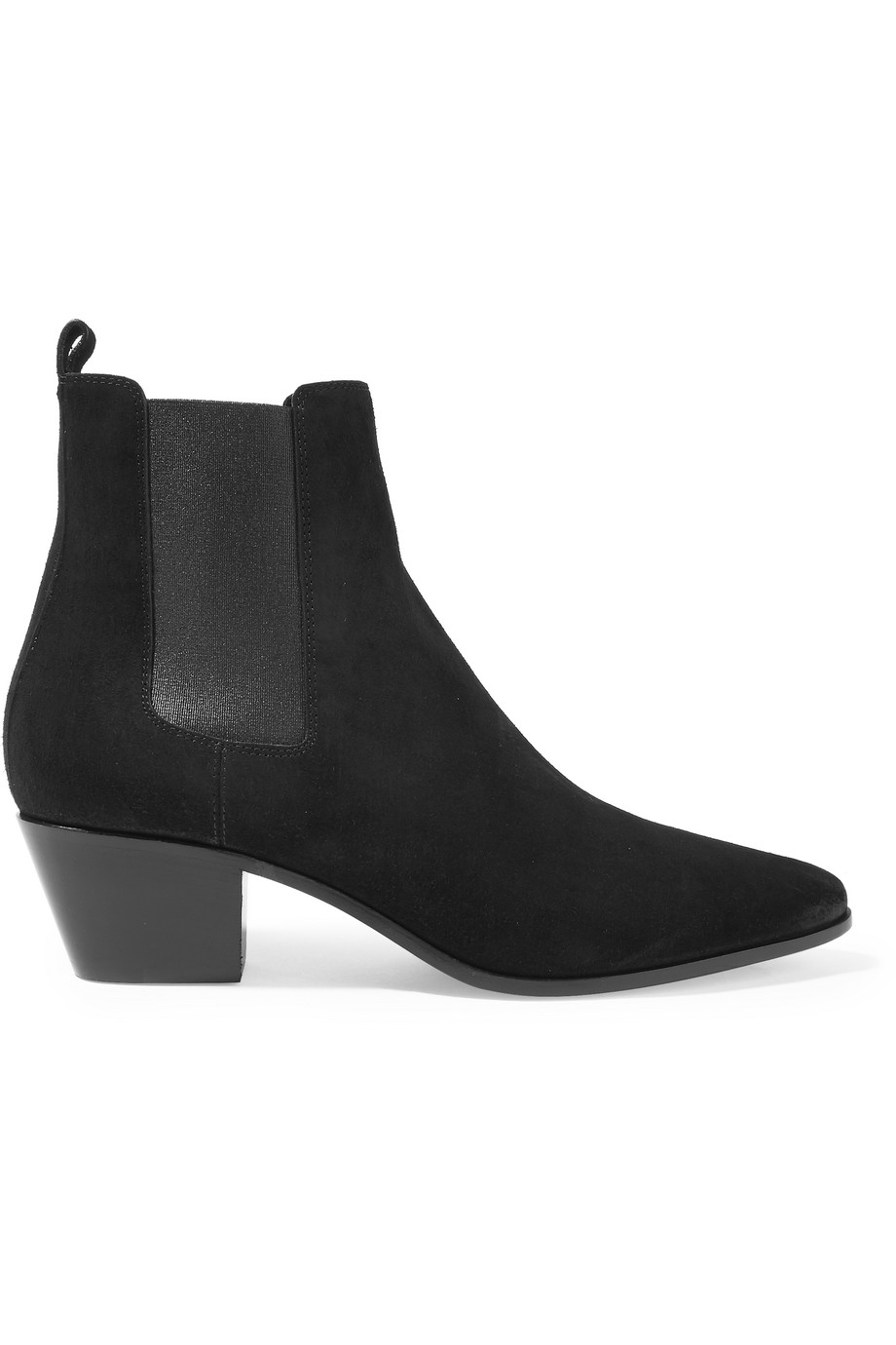 Saint Laurent Suede Chelsea Boots, Black, Women's US Size: 5, Size: 35.5
