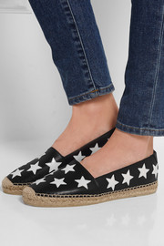 Saint Laurent Star-appliquéd leather espadrilles