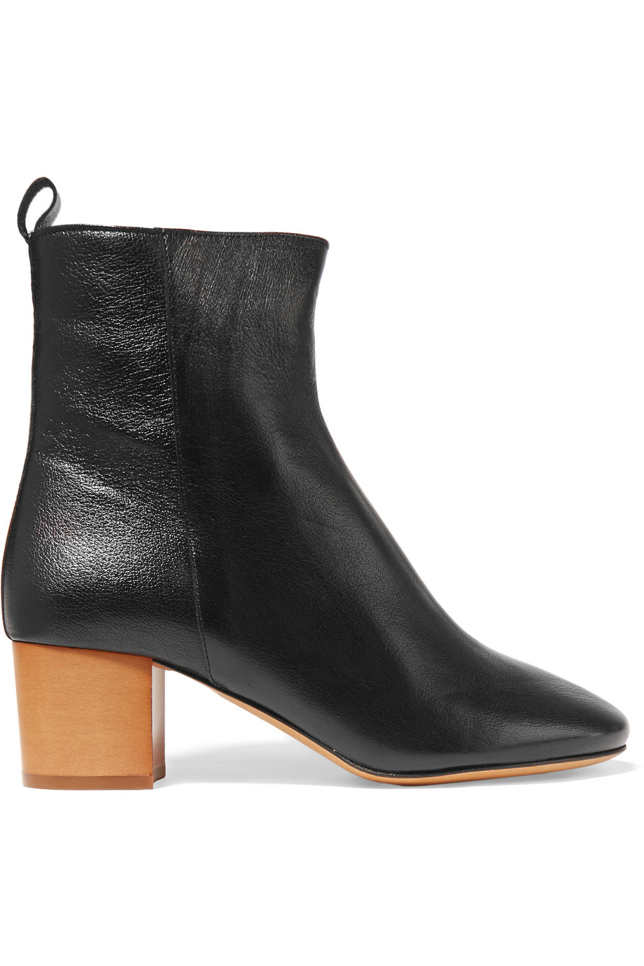 Isabel Marant Étoile Drew Textured-Leather Ankle Boots, Black, Women's US Size: 9.5, Size: 41