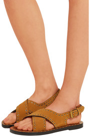 Isabel Marant Jane eyelet-embellished suede sandals