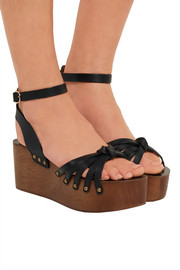 Étoile Zia leather platform sandals