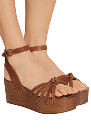 Zia leather platform sandals
