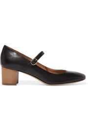 Etoilé Louanne textured-leather Mary Jane pumps
