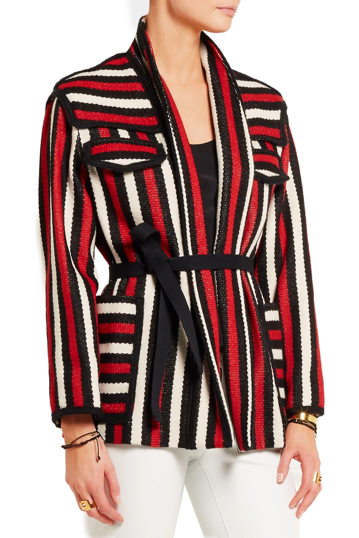 Isabel Marant Étoile Breeda striped wool-blend jacket