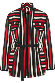 Breeda striped wool-blend jacket