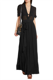 Kamil crinkled cotton-voile maxi dress