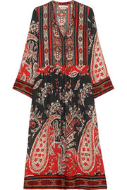 Tilda printed crepe de chine dress