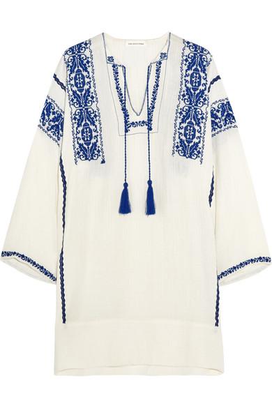 f1af0b6dc67d8c Isabel Marant Étoile | Vinny embroidered cotton-gauze mini dress ...
