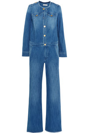Ojima frayed denim jumpsuit
