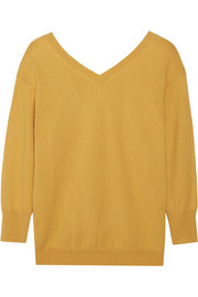 Kinsey cotton and wool-blend sweater