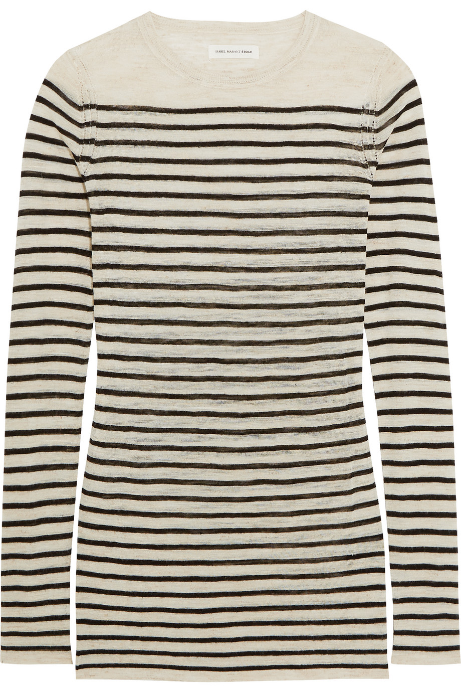 Deward Striped Knitted Sweater, Étoile Isabel Marant, Ecru, Women's, Size: 42