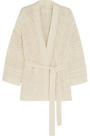 Floyd cable-knit cotton-blend cardigan