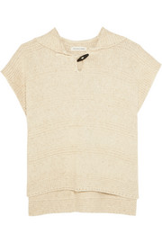 Flora hooded cotton-blend sweater