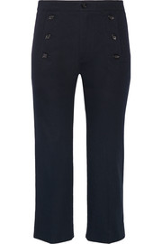 Macey cropped cotton-twill straight-leg pants
