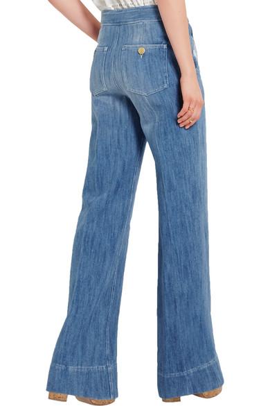 Étoile Isabel Marant | Odessa cotton-chambray wide-leg pants | NET ...
