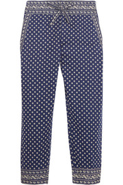 Loli printed cotton tapered pants