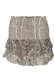 Serek printed silk-chiffon mini skirt