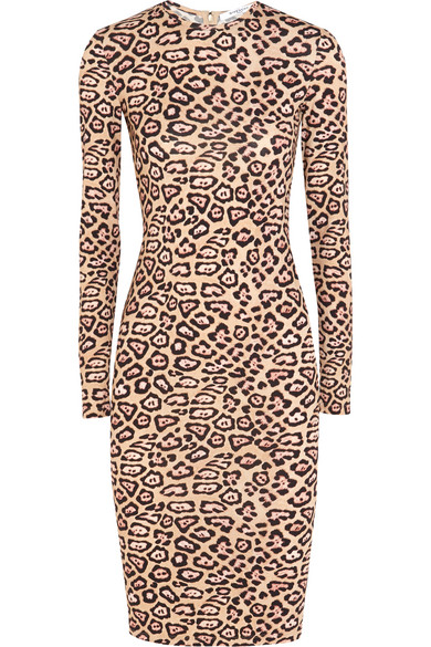 Givenchy. Dress in leopard-print stretch-jersey 0382a7564