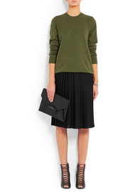 Givenchy Distressed sweater in army-green cashmere