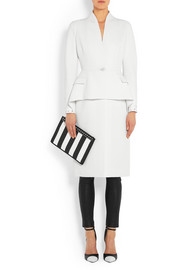 Givenchy Peplum coat in wool-crepe