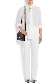 Givenchy Straight-leg pants in white stretch-cady