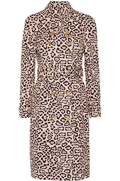 Givenchy - Trench Coat In Leopard-print Cotton - Leopard print