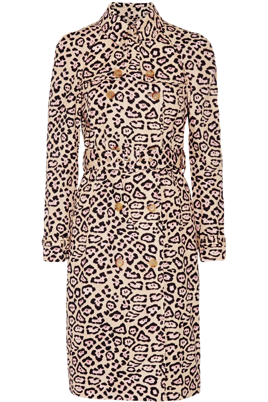 Givenchy Trench Coat in Leopard-Print Cotton, Leopard Print/Blush, Women's, Size: 34