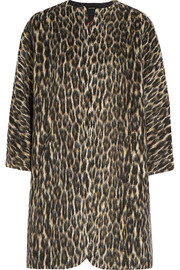 Isabel Marant Emmett brushed leopard-print wool-blend coat