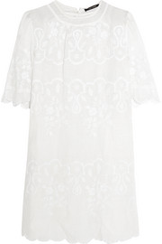 Ruthel embroidered ramie mini dress