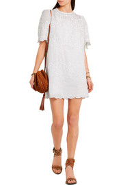 Isabel Marant Ruthel embroidered ramie mini dress
