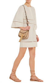 Isabel Marant Reone pointelle-trimmed linen and cotton-blend mini dress