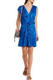 Isabel Marant Sudley satin-jacquard wrap-effect dress