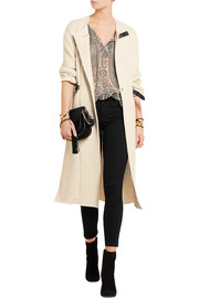 Isabel Marant Gabin leather-trimmed quilted cotton jacket