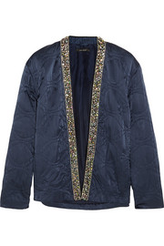 Jasia embellished silk jacket