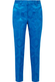 Syd satin-jacquard tapered pants