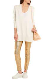 Isabel Marant Dysart metallic stretch-leather skinny pants