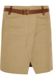 Isabel Marant Handy cotton and linen-blend mini skirt