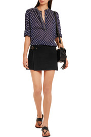 Isabel Marant Gael wrap-effect cotton-matelassé mini skirt