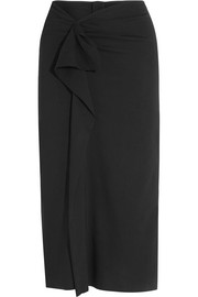 Quantin ruffled stretch-crepe skirt
