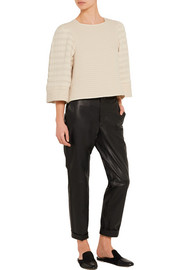 Isabel Marant Greg quilted cotton-blend matelassé top