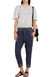 Isabel Marant Rumba embroidered ramie blouse