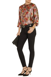 Isabel Marant Wilny Lurex and silk-blend lamé top
