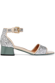 Marni Glittered leather sandals