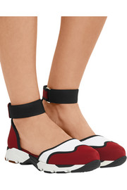 Marni Cutout mesh-paneled neoprene sneakers