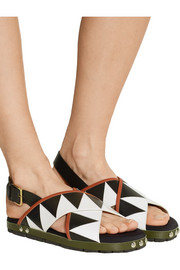 Marni Appliquéd leather sandals