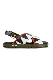 Appliquéd leather sandals